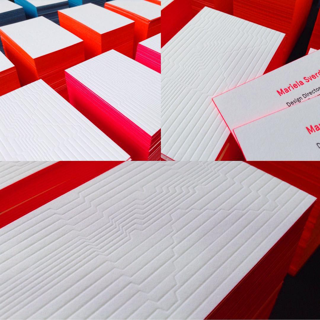 Bright bites in letterpress for the upcoming springsummer of neoflurohellip