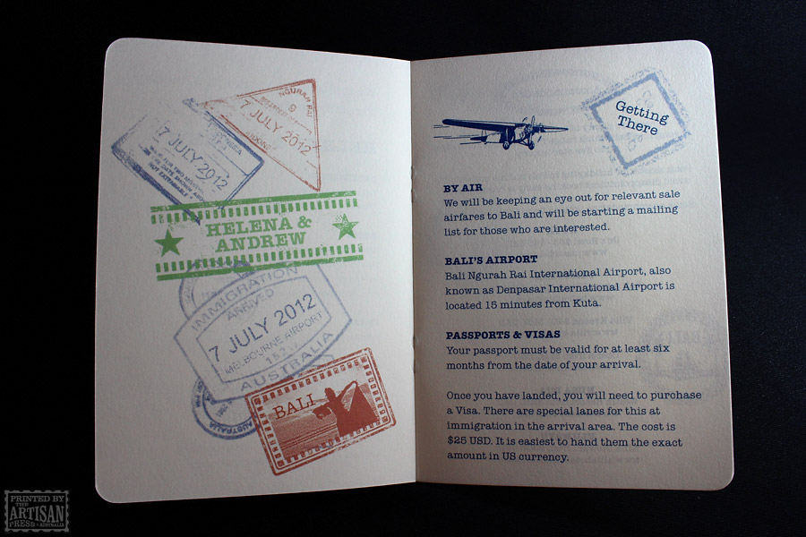 Passport to Bali | The Artisan Press - Australian letterpress printers